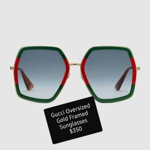 GUCCI Oversized Sunglasses - Authentic